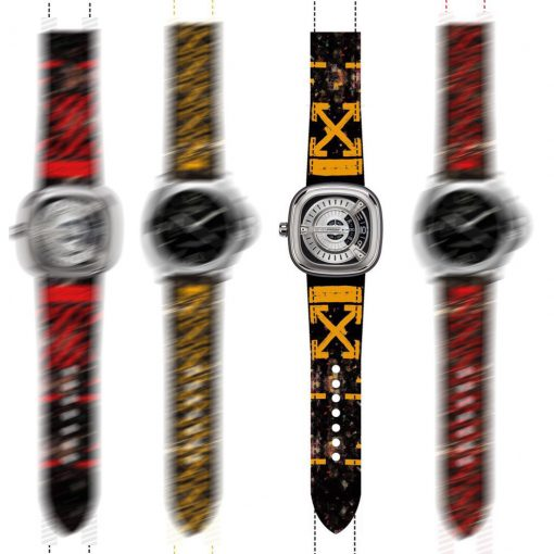 addict-straps-render off white yellow galaxy collection